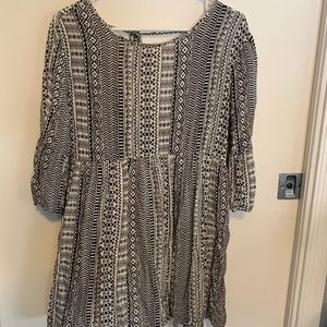 Open Back Patterned Dress